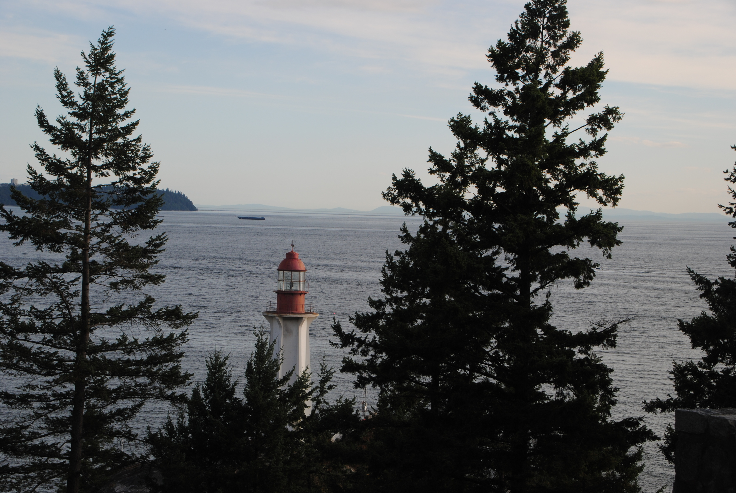 The lighthouse at Lighthouse Park.
