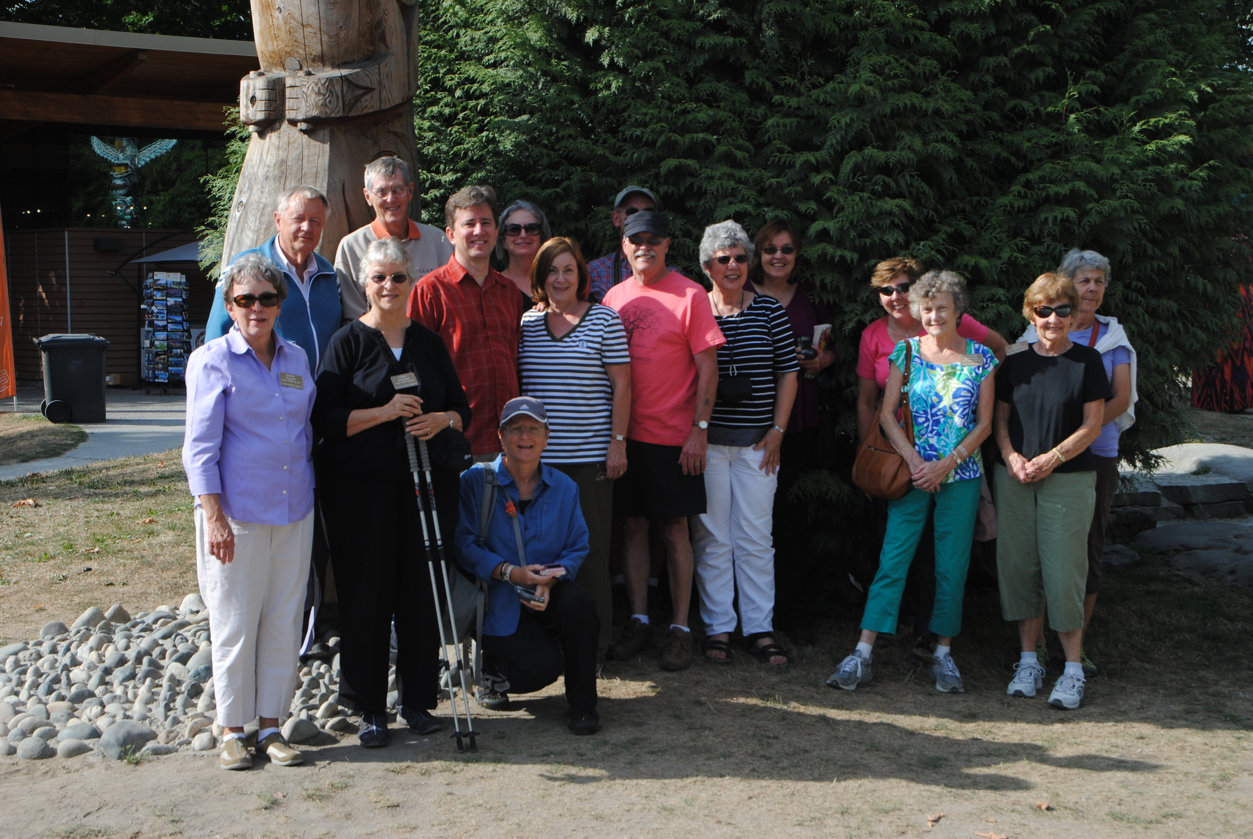 A good looking group at the First Nations totem poles.