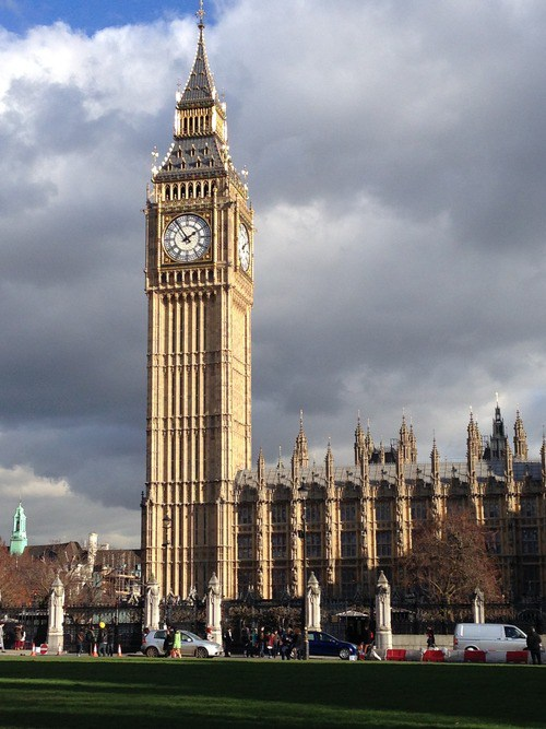 Big Ben, nickname for the Big Bell located on the Palace of Westminster
