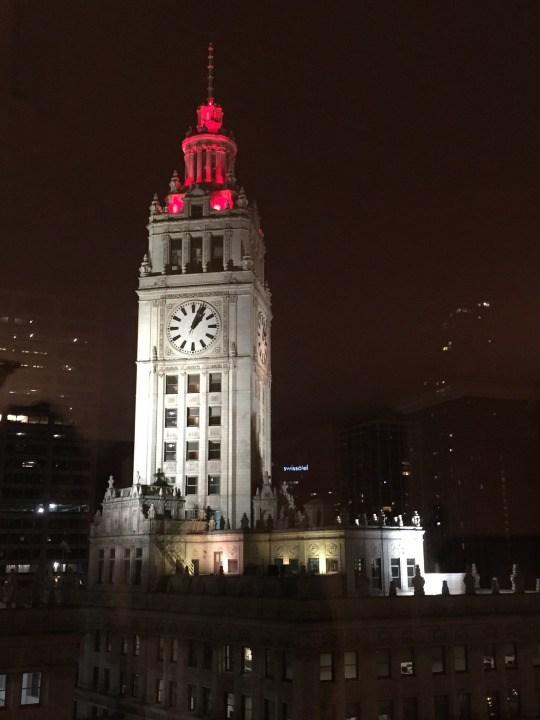 Wrigley Building by night