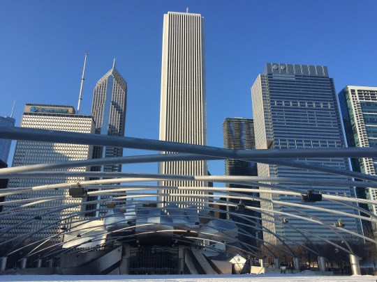 View from inside Millennium Park