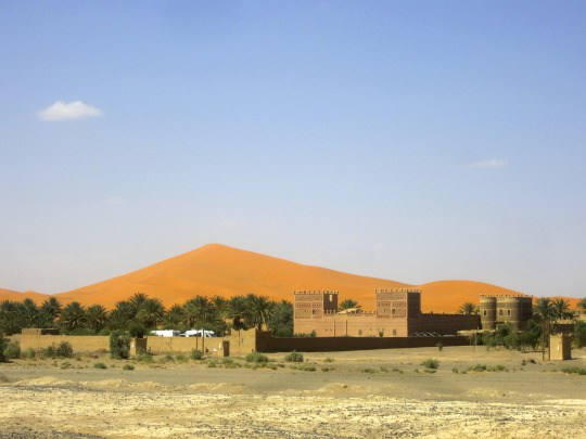 The sand dunes from the road… yes, they really are that orange!
