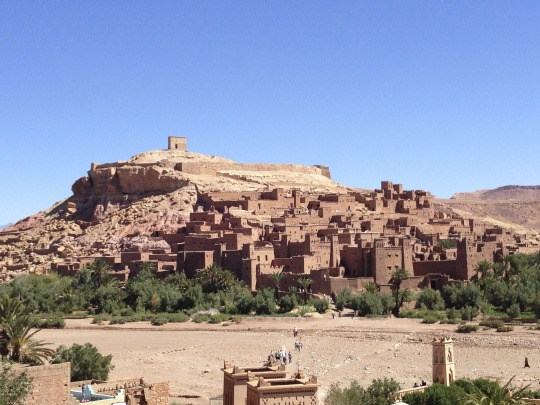 "Ait-Ben-Haddu, a UNESCO-preserved Kasbah from the 11th century en route to the oasis (fun fact: some of ""Game of Thrones"" was filmed here)"