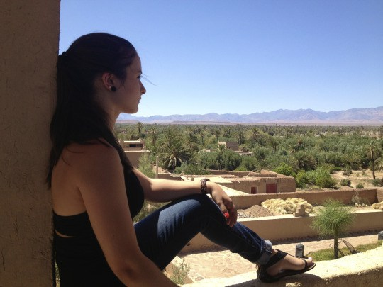 Looking out into the Skoura oasis