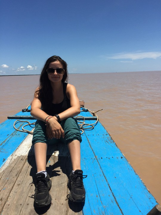 Hanging out on a fishing boat on the Tonle Sap lake