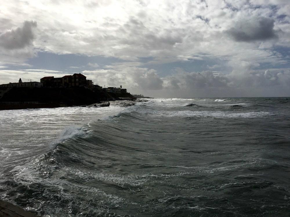 Angry waves at Ocean Beach.