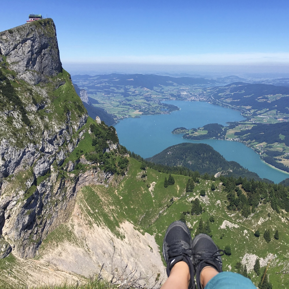 A view from the peak of Schafberg in Western Austria