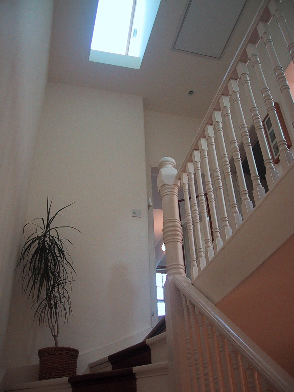 A new light-well was a simple and cost effective way of improving the daylighting within this Edwardian villa