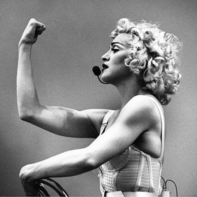 "Happy Madonna Day 💁🏻‍♀️ The Queen of Reinvention is 60! 60!!! 😳  My first #girlcrush and inspiration to break the rules 🤘🏻 ""I'm tough, I'm ambitious, and I know exactly what I want. If that makes me a bitch, okay."" — Madonna  Can I get a HELL YEAH?!? 🙌🏻🙌🏻🙌🏻"