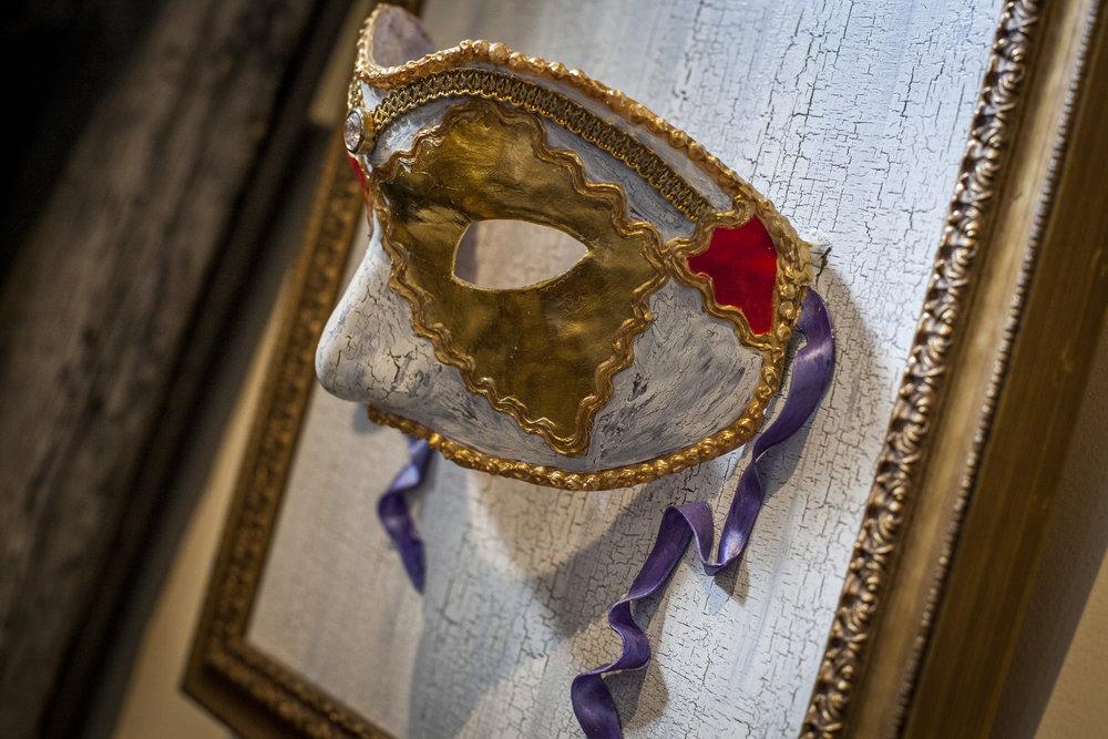 Venetian Dreams 1 - Ann Rosa (Polymer clay, acrylic paint, gold leaf and rhinestones)