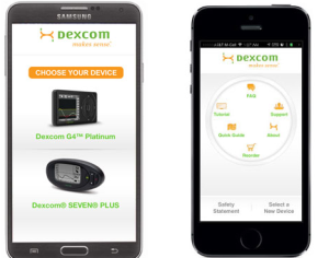 dexcom diabetes glucose monitoring app