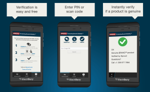sproxil app on blackberry 10