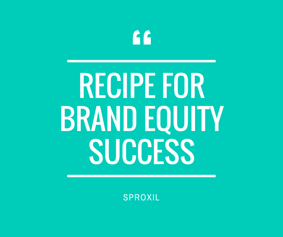 recipe for brand equity success