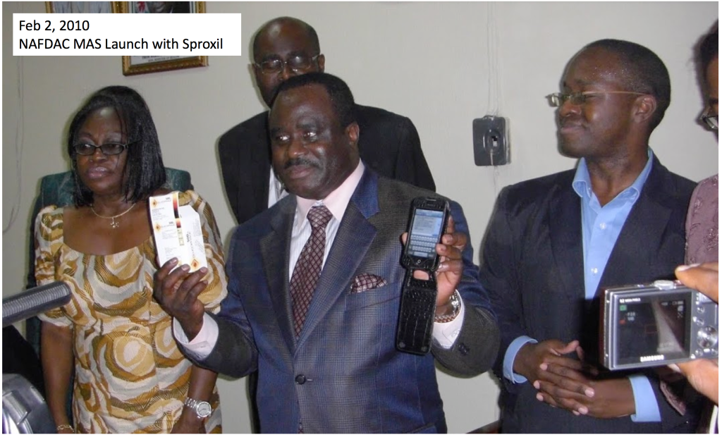nafdac mas launch with Sproxil nigeria