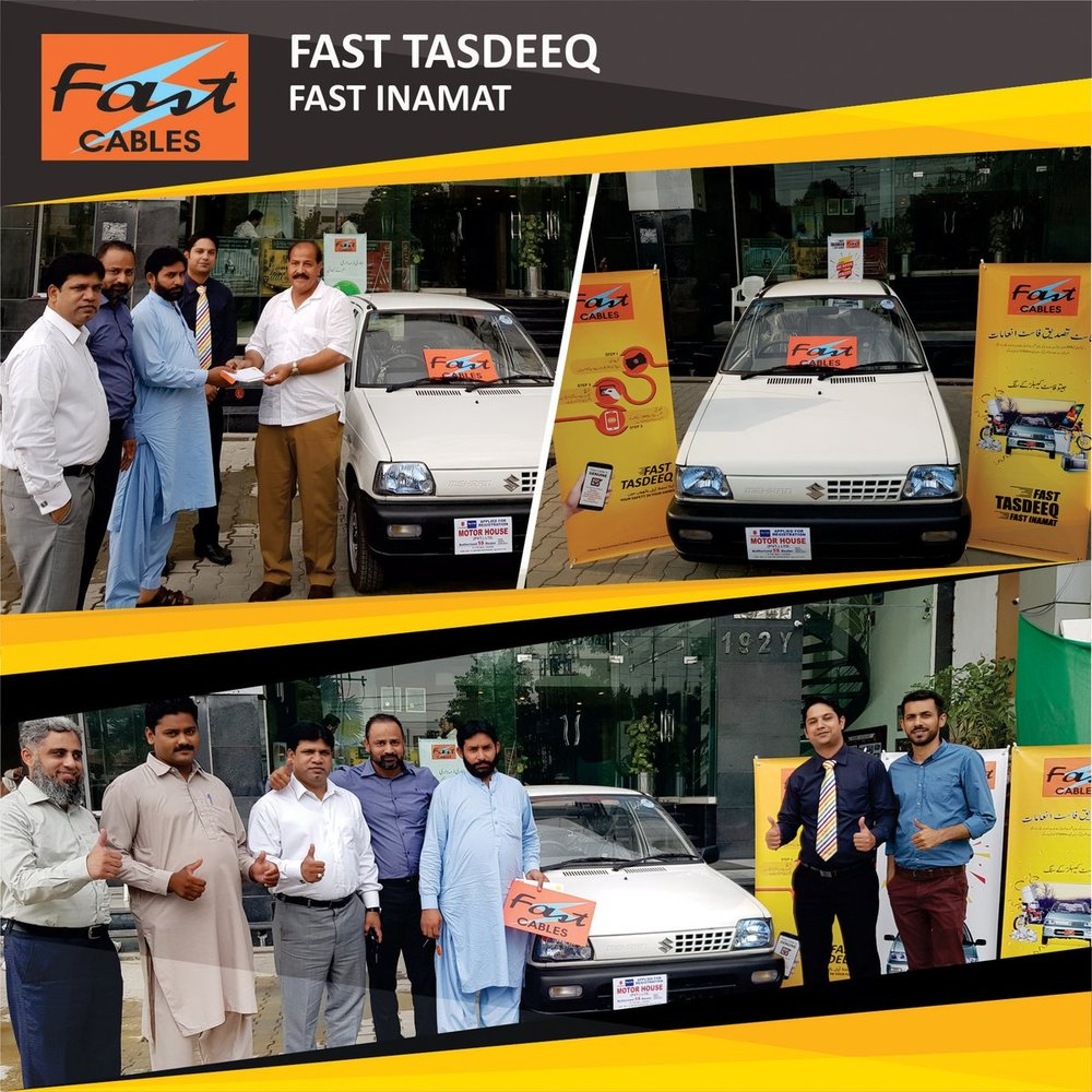 Mr Imtiaz from Faisalabad receiving his brand new car.