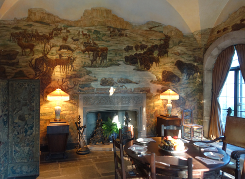 The Buffalo Room, with original murals intact painted by artist Robert Winthrop Chanler