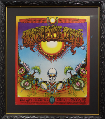"Aoxomoxoa, a clever palindrome that means nothing apparently.  Some read into the lettering ""We ate the acid."" If you look at a certain angle… Artist: Rick Griffin, 1969 Avalon Ballroom, San Francisco Bands: Grateful Dead, Sons of Champlin, Initial Shock"