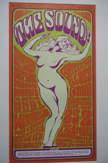 Artist: Wes Wilson, 1966 Winterland and the Fillmore Ballroom Bands: Jefferson Airplane, Muddy Waters, Butterfield Blues Band