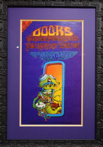 Artist: Rick Griffin, 1967 Denver Dog, Denver, CO Bands: The Doors, Allmen Joy, Gingerbread Blu