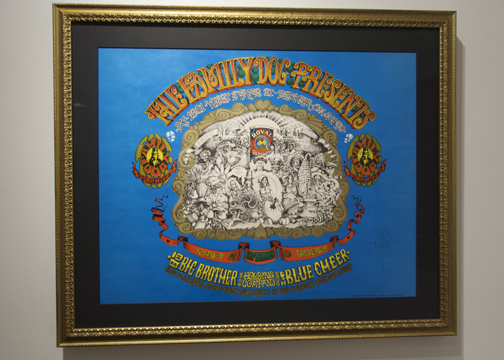 """Everybody Is Good At Heart"" Artist: Rick Griffin, 1967 Denver Dog, Denver, CO Bands: Big Brother & The Holding Company, Blue Cheer, Eight Penny Matter"
