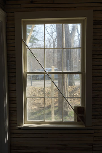 McGiff also created new windows from scratch, where windows were completely missing, matching the delicate muntins of the original windows. Storm windows will make these windows as efficient as any new insulated glass window.