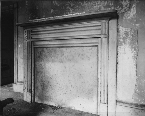 This 1962 photo shows the condition of the first floor front parlor.