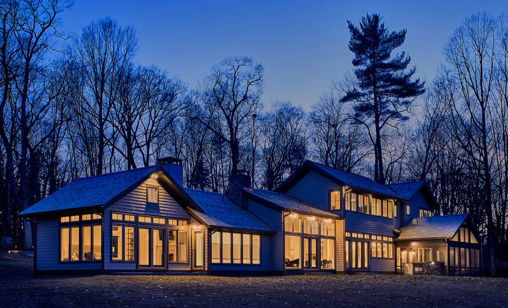 Lakeville, CT country house designed by Kevin Wolfe Architect