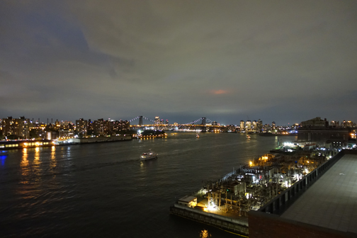 Up (and Down) The River: The fabulous view from out DUMBO perch.
