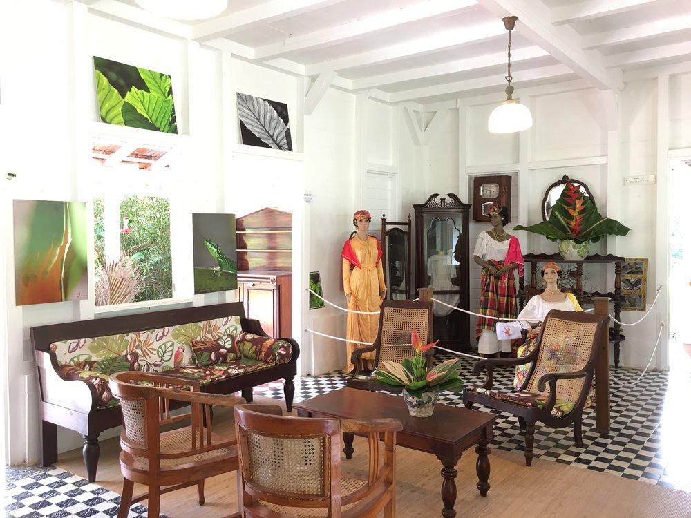 L'intérieur de la maison créole