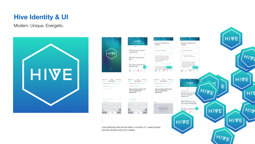Introducing Hive. Rebranded for new college grads. - Quick answers in anonymous groups from like-minded people.