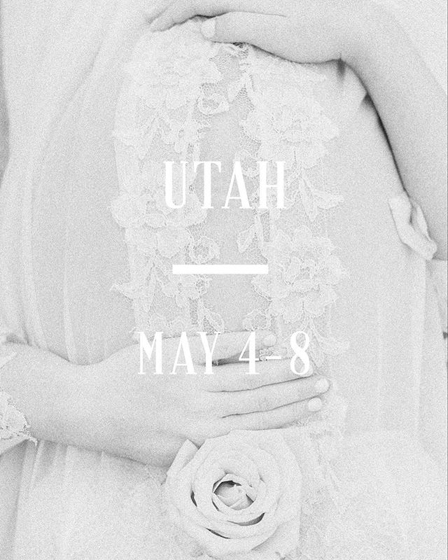 UTAH! I'm headed your way just in time for spring, and currently booking portrait sessions for May 4-8! DM or contact me through my website to book. Link in bio! 💛