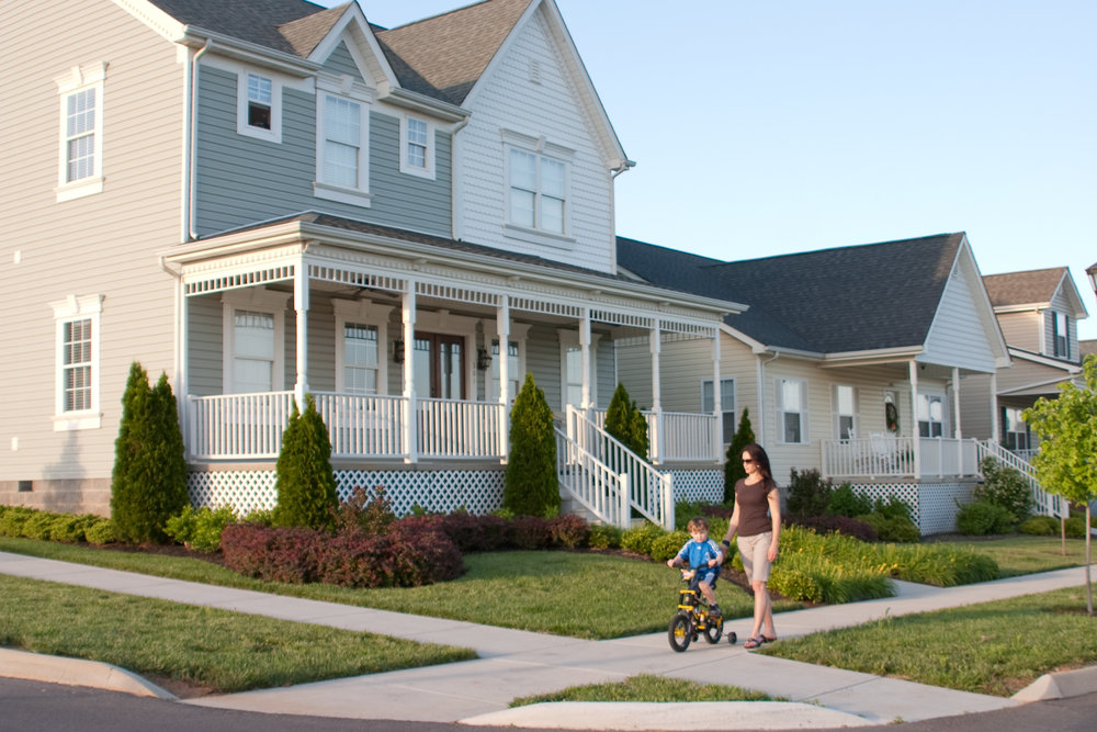 Miles of sidewalks and welcoming front porches