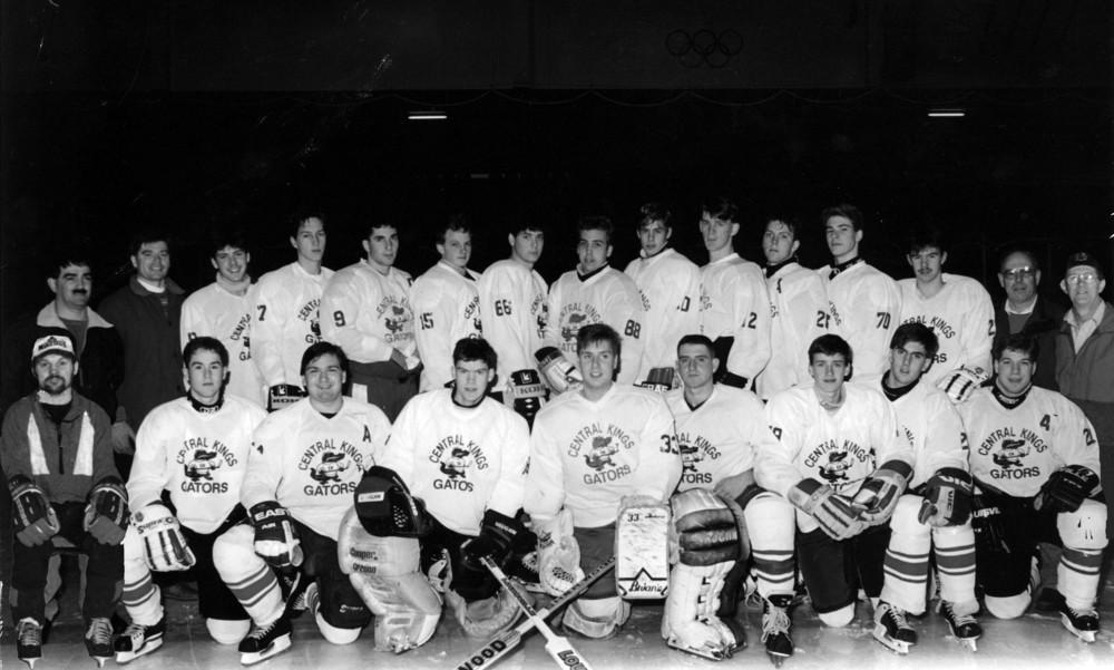 1993-1994 Central Kings Gators High School Hockey Team — Home dbd3bc57380