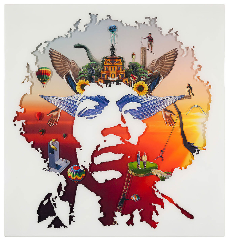 Jimi Hendrix 4, Collage layered in resin on plywood, 2010, 38%22 x 36%22.jpg