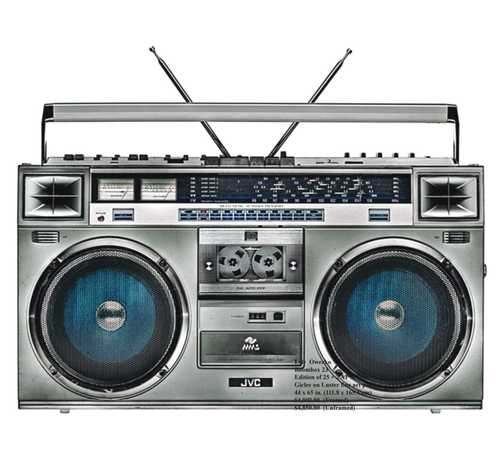 "Lyle Owerko, ""Boombox 23"" 2010. Edition of 25 + 5 AP's. Giclee on Luster fine art paper. 44 x 65."