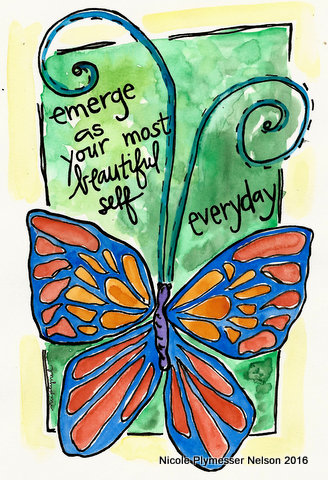 emerge as your beautiful self