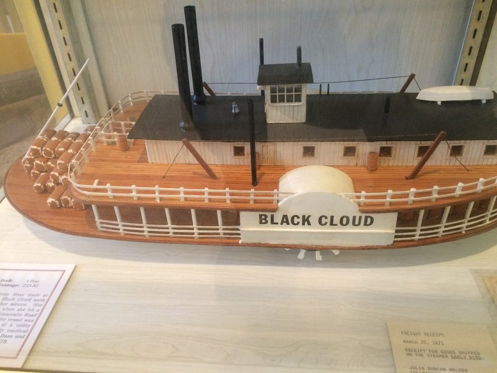 Trinity River Steamboat model at Sam Houston Regional Library in Liberty