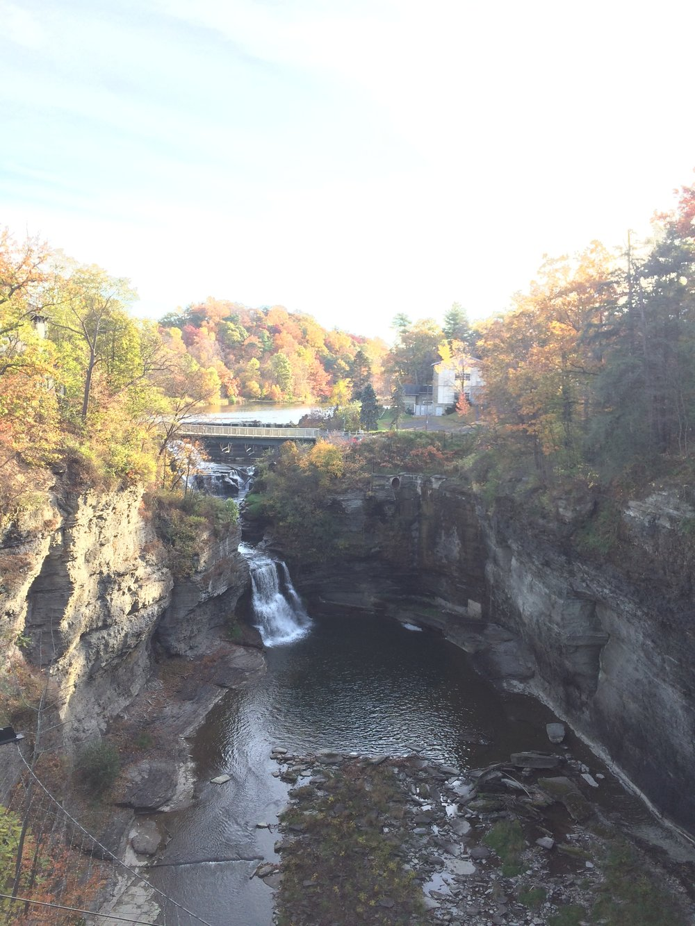 The gorges during my fall 2017 visit to Cornell.