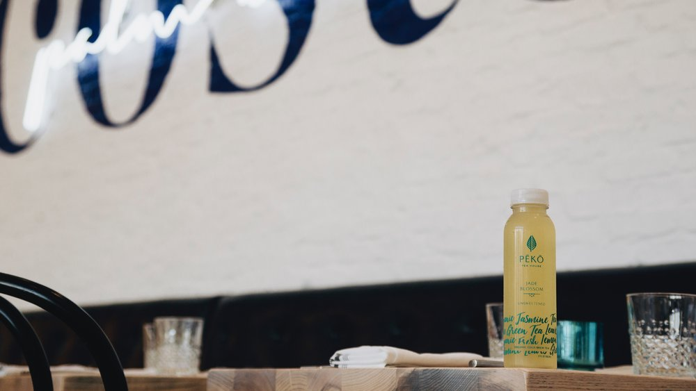 Jasmine Green Tea unsweetened all natural by Peko Tea House Florida's First Organic Vegan Cold Brew Tea