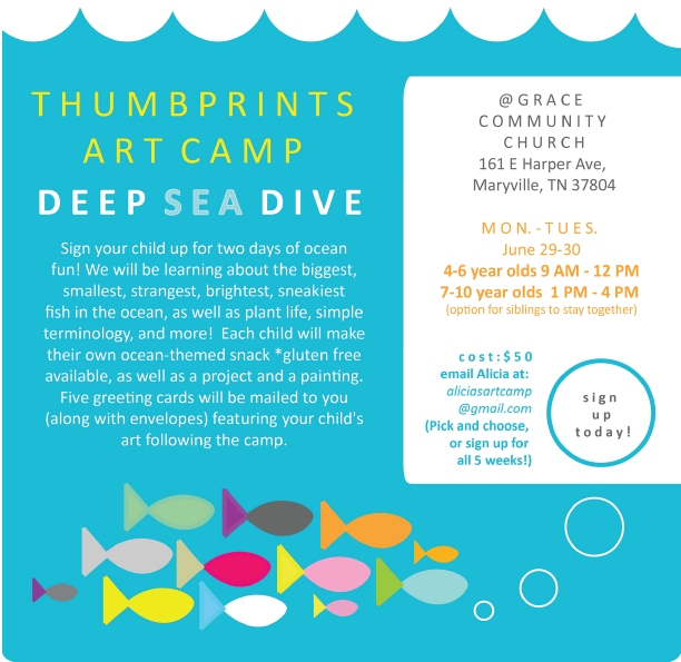 Thumbprints Art Camp, June 2015. Created with Adobe Illustrator.