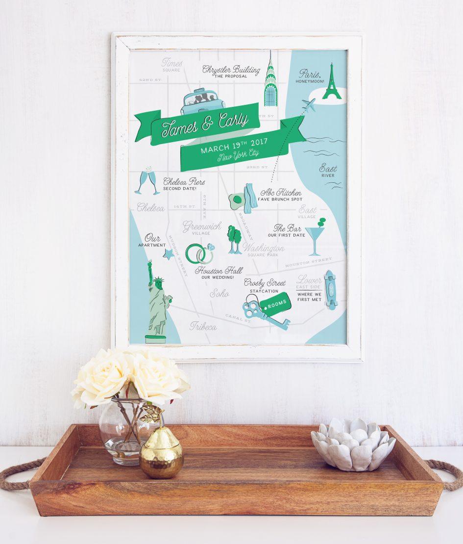 Personalized City Map Art Print