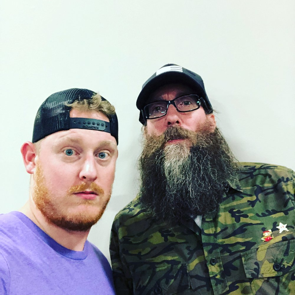 Not an Evan Pierce photo! Just my husband acting like a wierdo with Crowder. Check out his Mario pin! Just noticed it when I was uploading this picture!