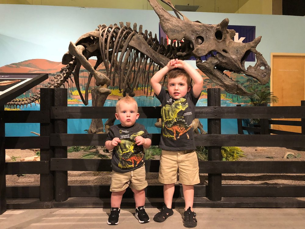 I am so loving that they are near enough in size now that they can wear matching outfits! My husband thinks it is detrimental to their psychological health…