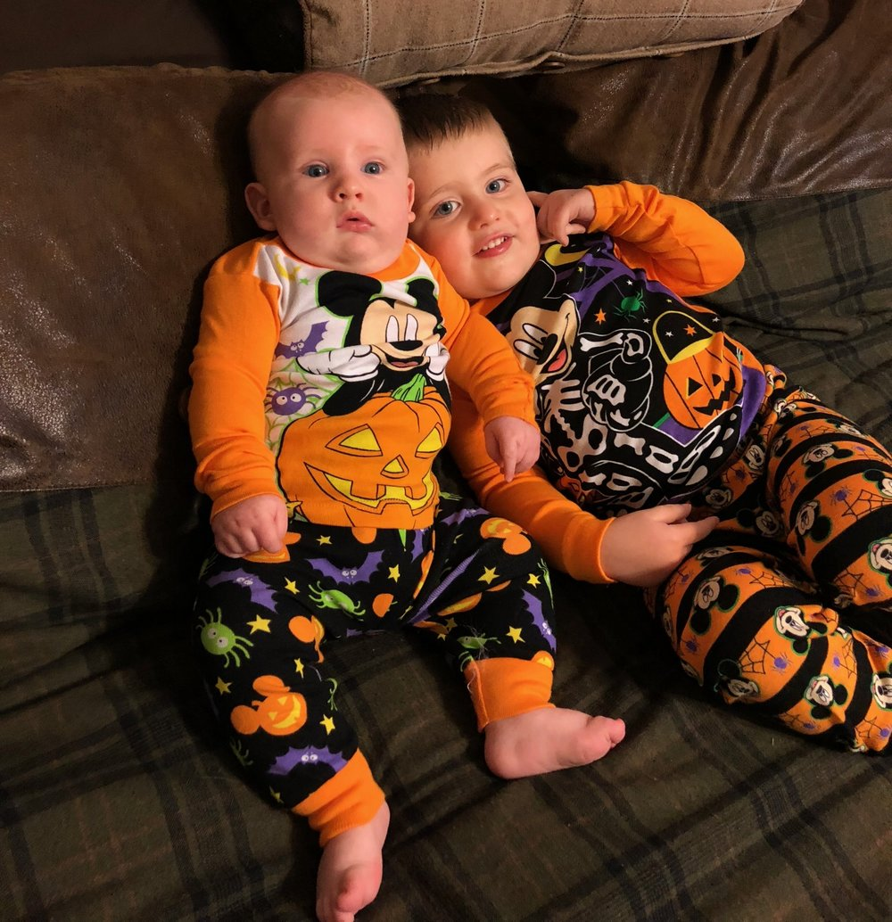 We at least did matching Mickey Halloween jammies last year!