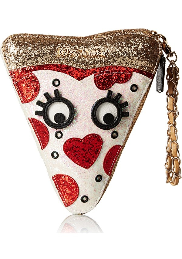 It's a little crazy, but I think Betsey Johnson nailed it with this fun pouch. It can be used as an accessory or stand along as a clutch - yummy!