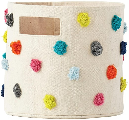 Pom Pom Basket - favorite things - toy storage - organization - family