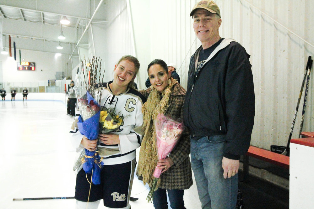 Captain Jackie Sharp Honored at Senior Night Game -