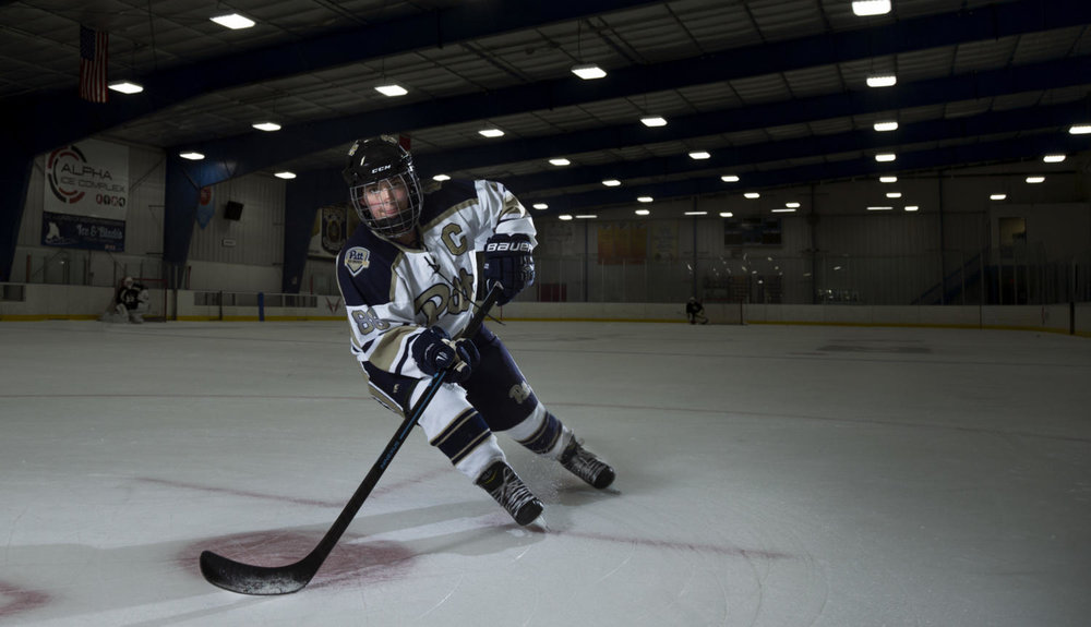 Jackie Sharp: For the Love of the Game - Read about how PWH's captain, Jackie Sharp's, unparalleled love for the game of hockey has propelled her through her college hockey career and has left a lasting impact on the young program.Photo by Theo Schwartz