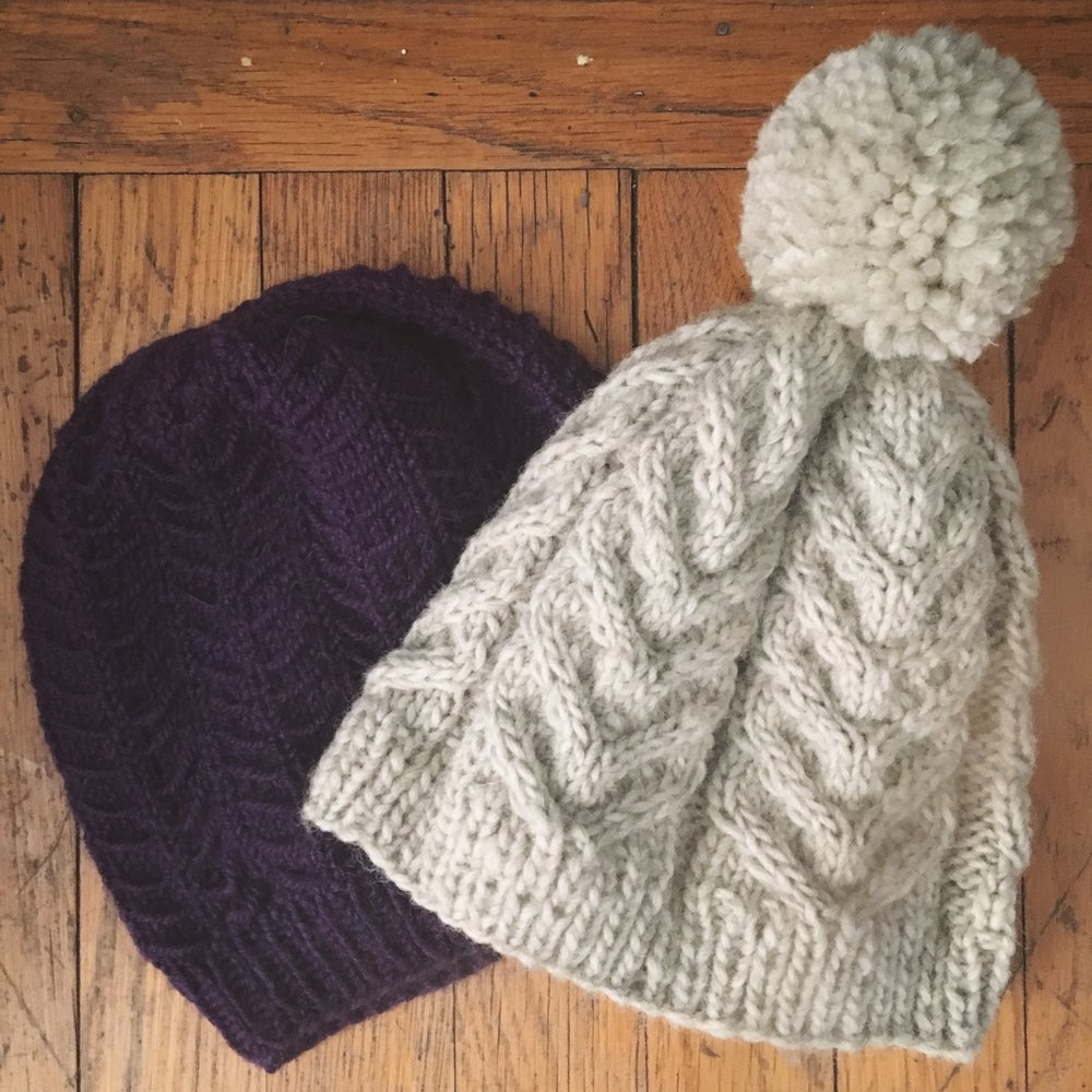 Antler Hat in Grey and Tamarugo in Purple