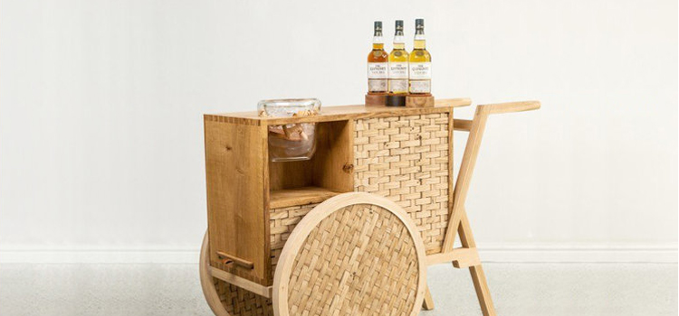 Sebastian Cox Glenlivet Nadurra Drinks Trolley and Michael Ruh Ice bucket
